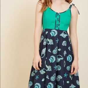 ModCloth Waving From the Waterfront Dress Shells
